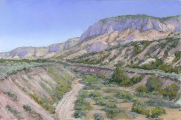 Johnson Canyon by Western pastel landscape artist Don Rantz