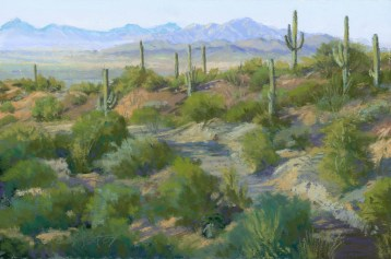Kitt Peak From the Red Hills by Western pastel landscape artist Don Rantz