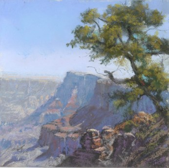 Grand Canyon 15-Palisades1 by Western pastel landscape artist Don Rantz