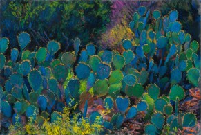 Prickly Pear by Western pastel landscape artist Don Rantz