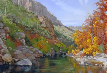 Sabino Canyon Light by Western pastel landscape artist Don Rantz