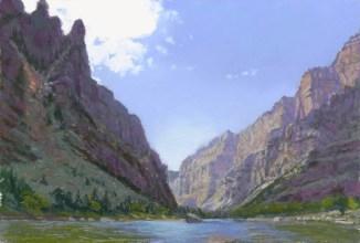 Spire by Western pastel landscape artist Don Rantz