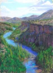 Verde River Canyon by Western pastel landscape artist Don Rantz