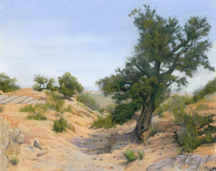 Vermillion View by Western pastel landscape artist Don Rantz