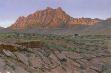Vermillion Cliffs by Western pastel landscape artist Don Rantz