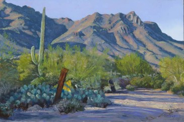 West Tucson December by Western pastel landscape artist Don Rantz