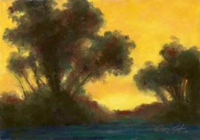 Yellow Brown by Western pastel landscape artist Don Rantz