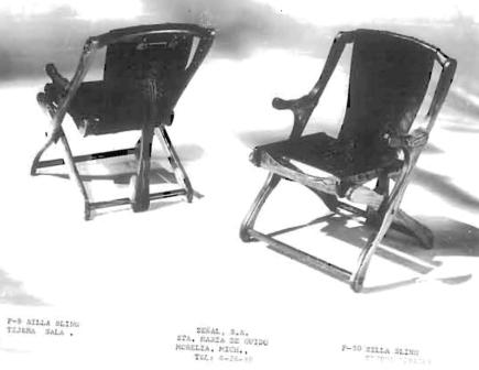 "Chairs – The iconic ""Sling"" folding chairs"