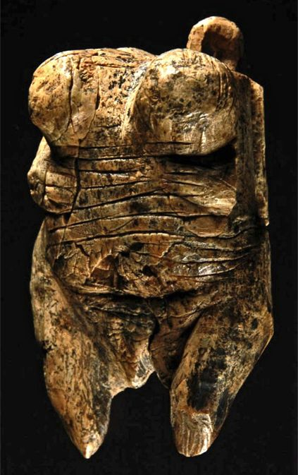 Venus of Hohle Fels figurine is the oldest sculpture depicting a human figure. It is about 35,000 to 40,000 years old.