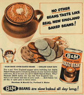 1953 ad for B&M Baked Beans