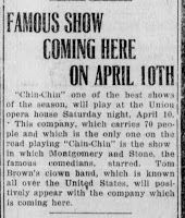Donna in New Philadelphia, OH, at the Union Theatre – 10 April, 1920