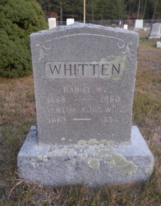 Marker of Daniel & Martha A. Whitten