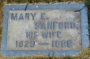 Marker - Mary E. (Parsons) Sanford