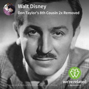 Walt Disney - 8th Cousin