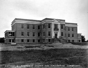 1928 photo of the Cambridge State Hospital.