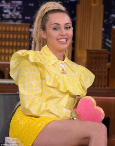 Photo of Miley Cyrus at Jimmy Fallon