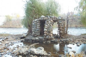 Photo of Stone structure in Rum River in Anoka, MN