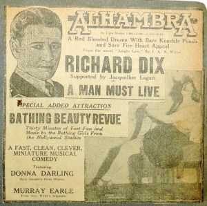 Newspaper Clipping - Alhambra showing Bathing Beauty Revue
