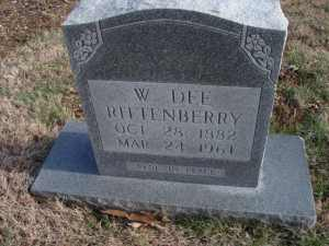 Marker - W. Dee Rittenberry (1882-1961) - Photo by imagal49 (#47223808) via Find a Grave