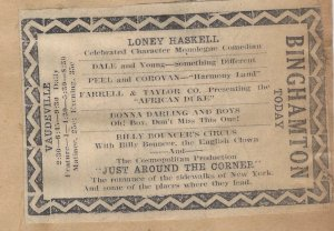 Ad showing Donna Darling & Boys