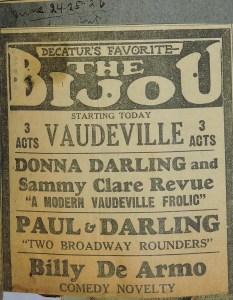 Image - Bijou - Vaudeville - Donna Darling & Sammy Clark Revue