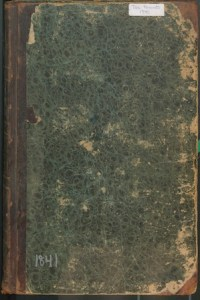 Image of the Cover of the Scarborough, Maine, Tax Valuation book for 1841.