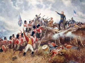 Painting of the Battle of New Orleans by Edward Percy Moran.