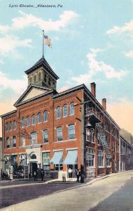Photo of the Lyric Theater, Allentown, PA ca. 1905.