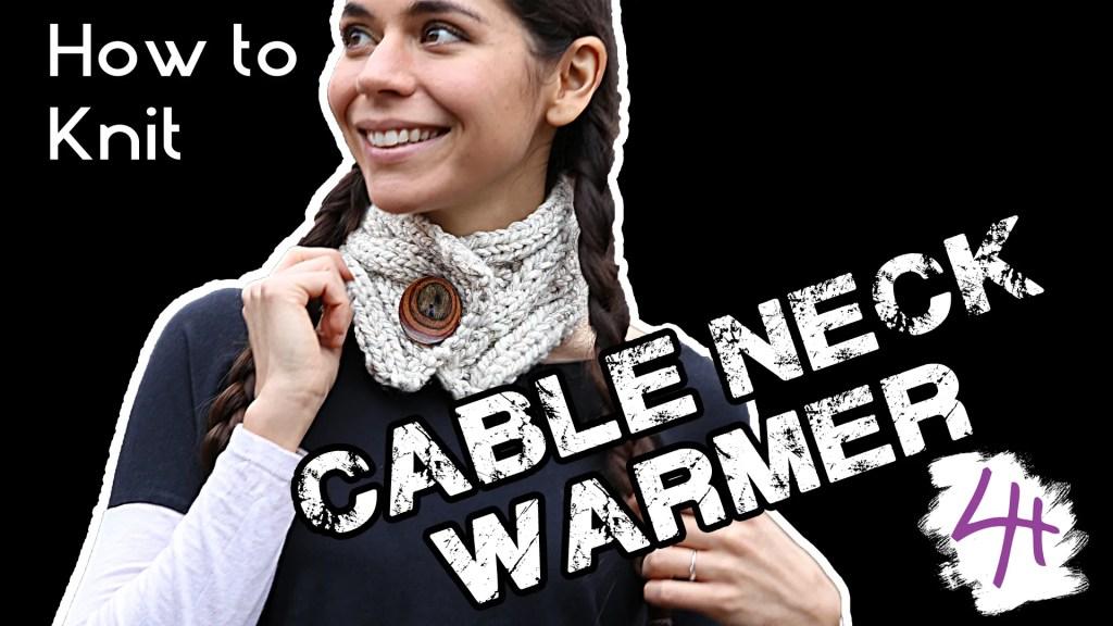 Neckwarmer knitting patterns in the loop knitting.