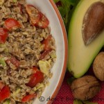 Holy Moly Avocado, Sweet Pepper and Spelt Salad