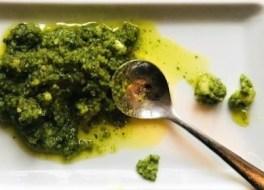 watercress and hazlenut pesto