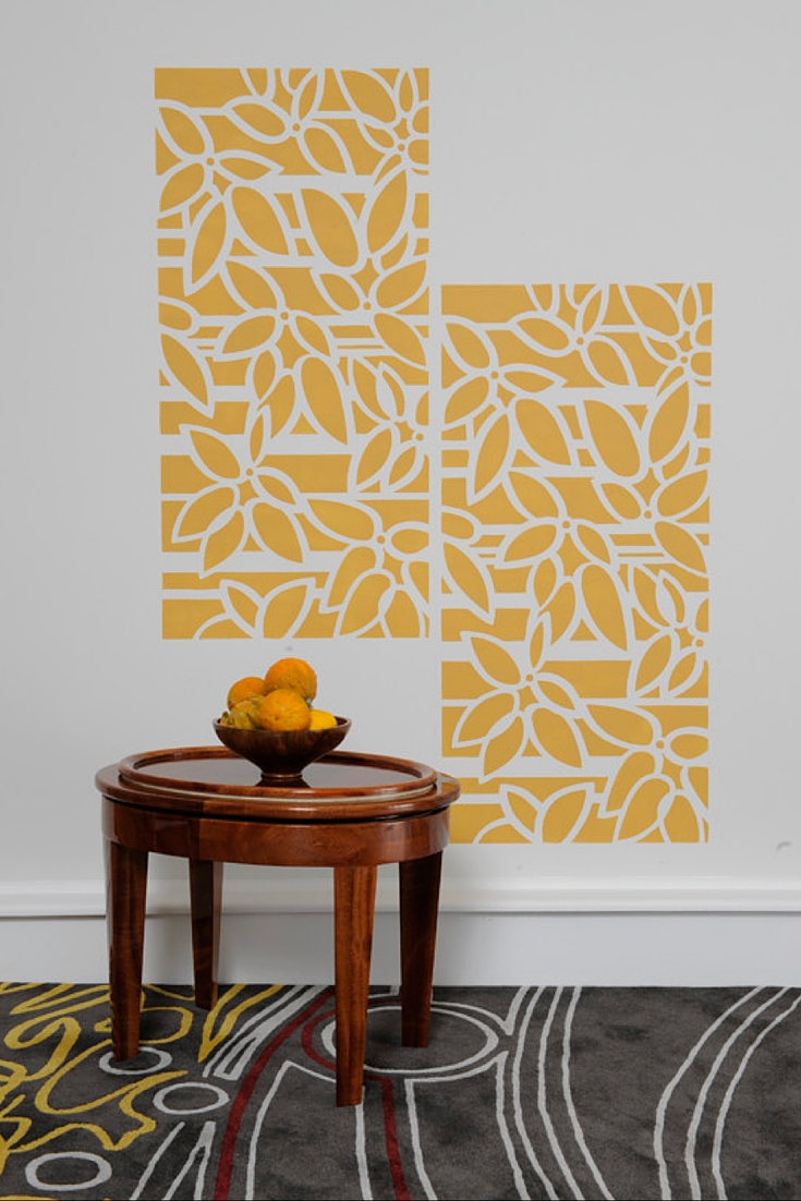 Creative Home Wall Stencils You Can DIY - Don\'t Call Me Penny