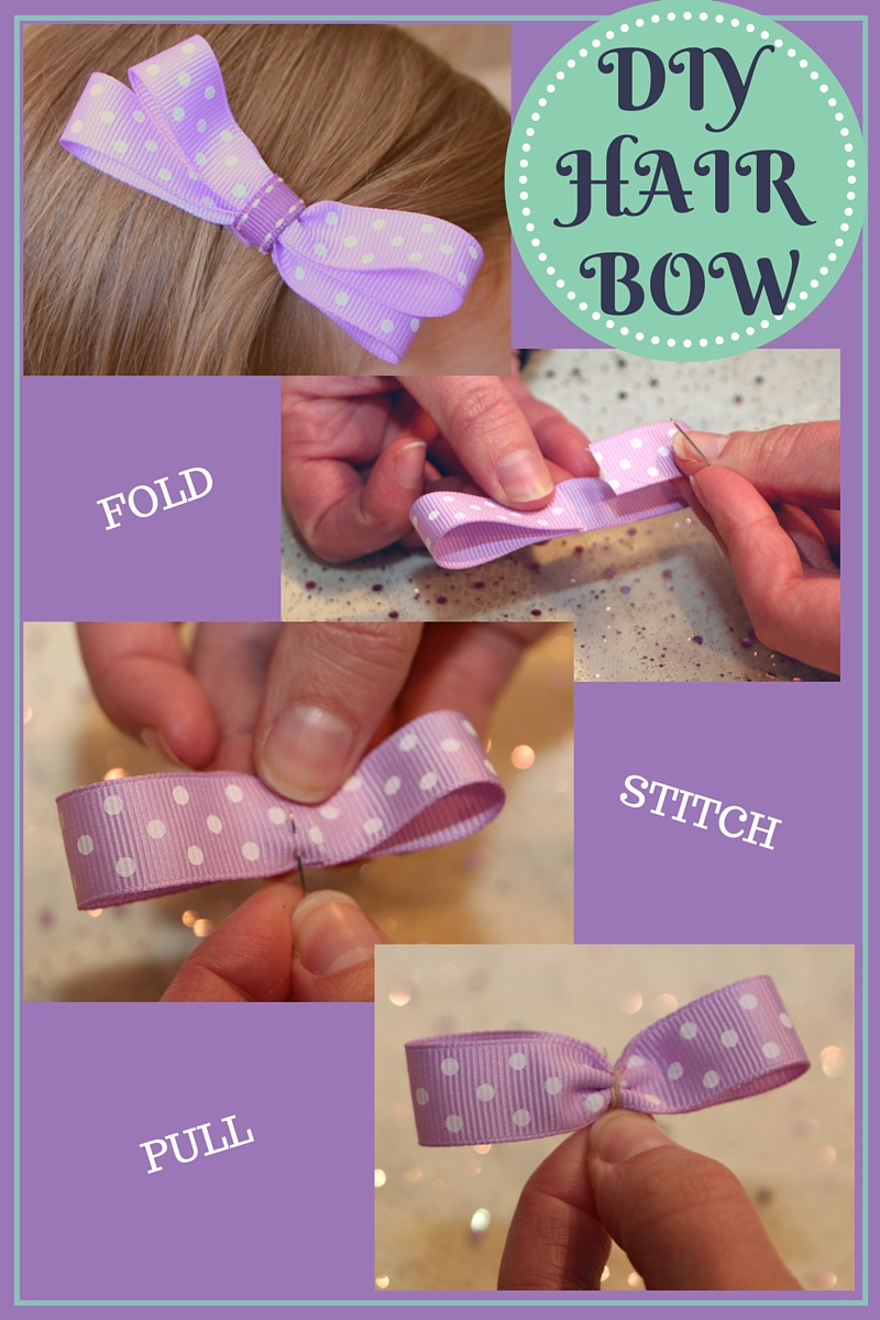 Ribbon Hair Bow DIY