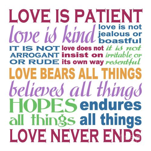 Love is patient, love is kind...loving isn't always easy.