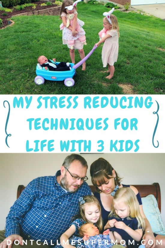life with 3 kids reducing stress