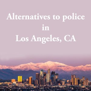 Cover photo for alternatives to police in Los Angeles, CA, a list of alternatives to calling the police or 911