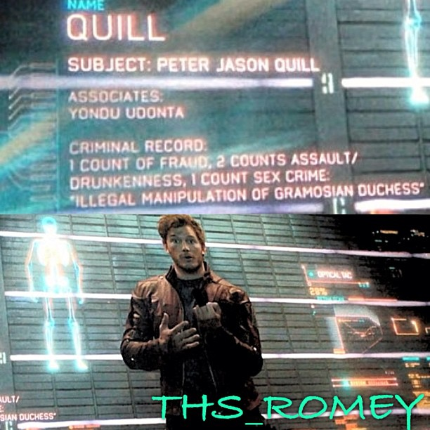 Star Lord rap sheet