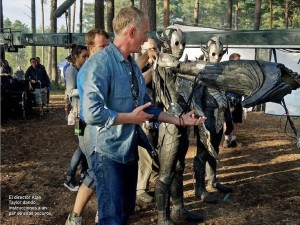 Alan Taylor Thor the Dark World BTS still