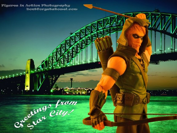 Green Arrow Postcard