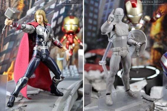 Figma Thor and Captain America
