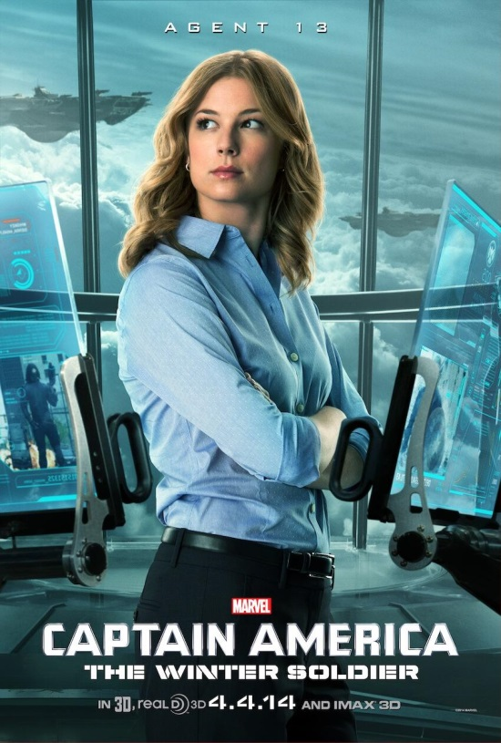 Captain America The Winter Soldier Agent 13 Sharon Carter poster