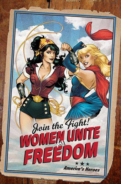 Superman Wonder Woman 9 Bombshell variant cover
