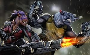 Rocksteady and Bebop teenage mutant ninja turtles