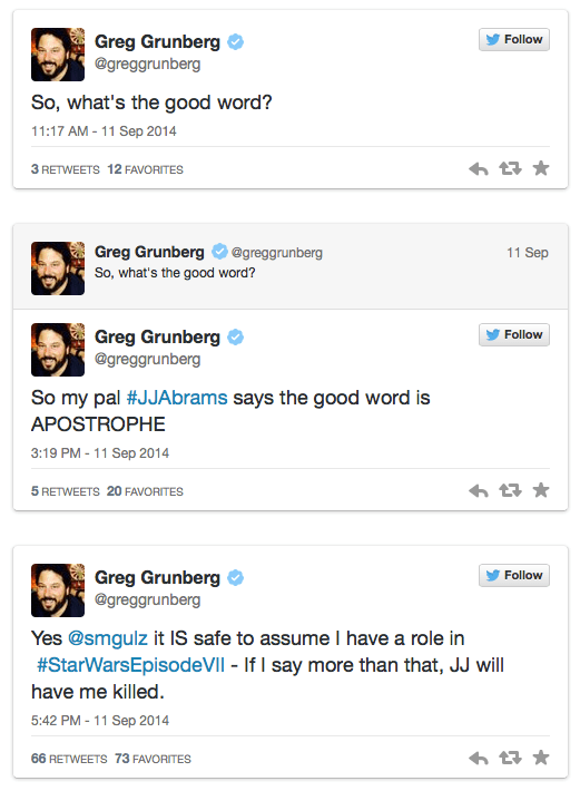 Greg Grunberg tweet