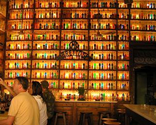 Illuminated Bar in the Plaka, Athens