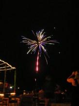 Illuminated Fireworks in Fiji