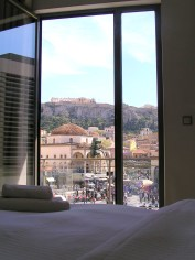 from my bed at A for Athens