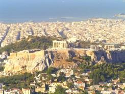 View of Parthenon from Lykabettus Hill