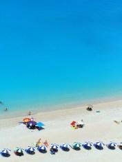 On top of Egremni Beach on Lefkada, Greece