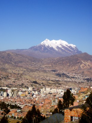 On top of La Paz, Bolivia